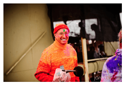 TK at the Holi festival